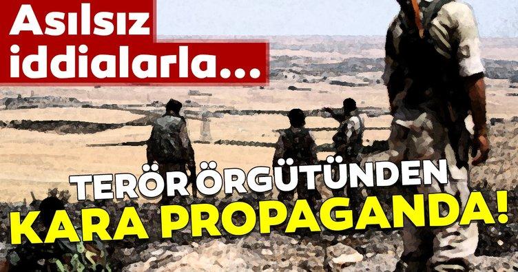 YPG/PKK'dan kara propaganda! Gerçek dışı iddialar...