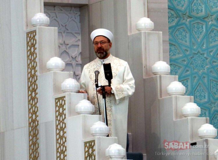 Diyanet İşleri Başkanı Ali Erbaş kısıtlı sayıda cemaatle bayram namazı kıldı