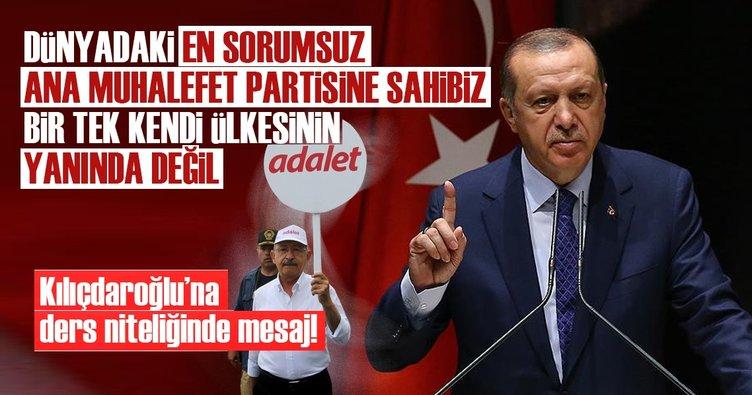 Cumhurbaşkanı Erdoğan'dan Kılıçdaroğlu'na ders niteliğinde mesaj!