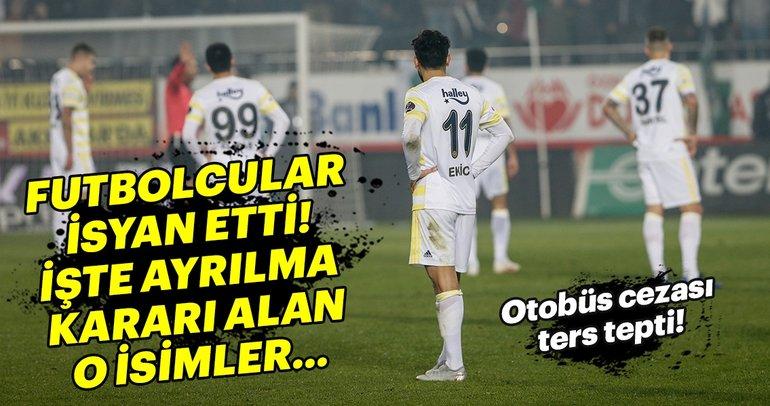 Fenerbahçe'de futbolcular isyan etti! İşte ayrılma kararı veren isimler...