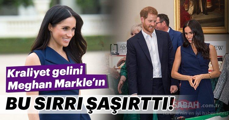Kraliyet gelini Meghan Markle'ın bu sırrı şaşırttı!