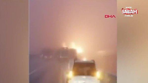 Çin'de 43 araçlı zincirleme kaza: 3 ölü, 6 yaralı | Video