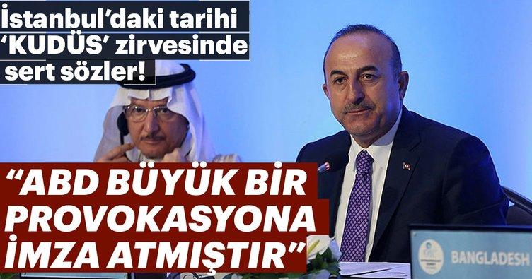 Dışişleri Bakanı Mevlüt Çavuşoğlu: ABD büyük bir provokasyona imza atmıştır