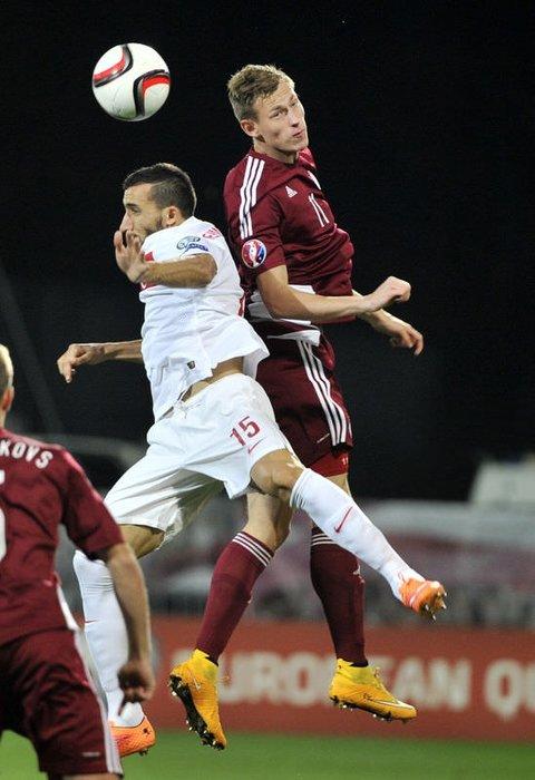 Letonya - Türkiye maçının fotoğrafları