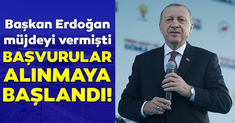 Başkan Erdoğan'ın müjdesini verdiği fabrikada iş başvurusu heyecanı!