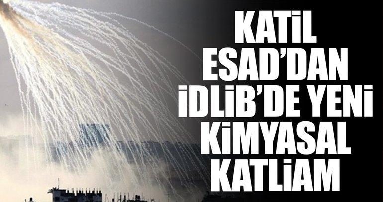 SON DAKİKA: Suriye'de rejim güçlerinden İdlib'e fosfor gazlı saldırı!