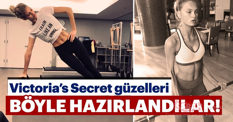 Victoria's Secret mankenleri bakın defilelere nasıl hazırlanıyor!