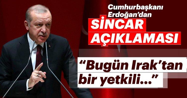 Son dakika: Cumhurbaşkanı Erdoğan'dan Sincar açıklaması