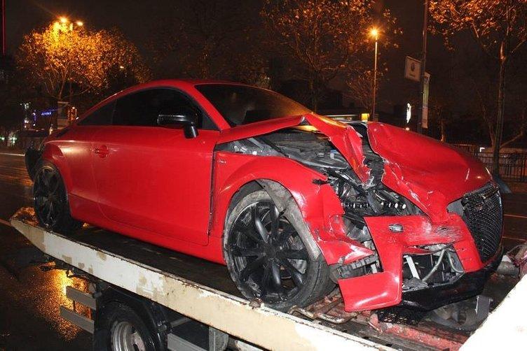 Beşiktaşlı futbolcu Muhammed Demirci kaza yaptı