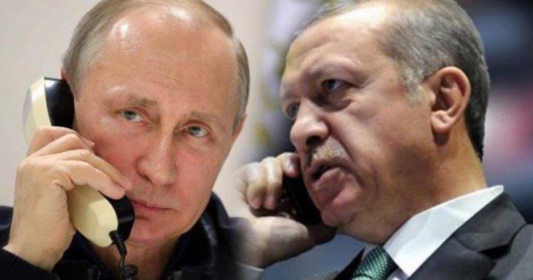 Erdoğan, Putin'i telefonla bilgilendirdi