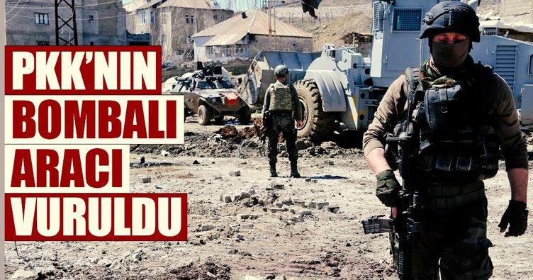 Son dakika: Sıcak çatışma çıktı! PKK'nın bombalı aracı vuruldu