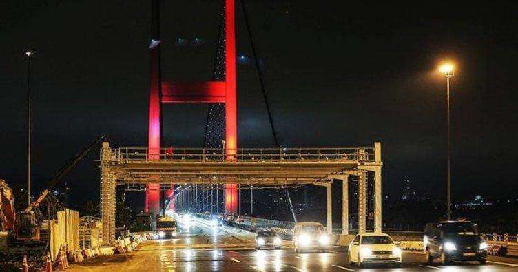 15 Temmuz Şehitler Köprüsü'nde serbest geçiş dönemi başladı