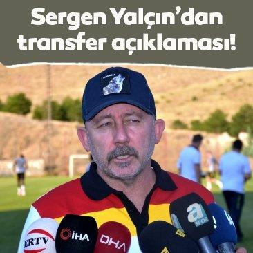 Sergen Yalçın: 4-5 transfer yapmayı düşünüyoruz