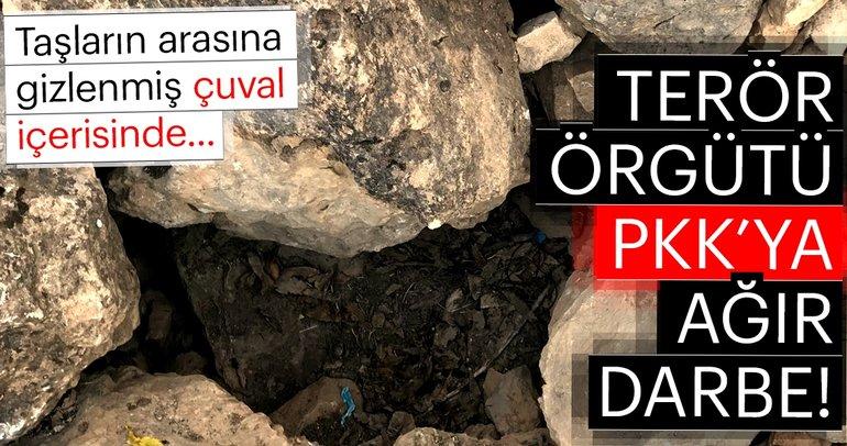 Son dakika haber: PKK'ya çok ağır darbe! Gizlenmiş çuval içerisinde ele geçirilenler...