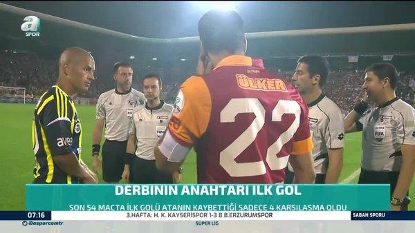 Galatasaray-Fenerbahçe derbisinin anahtarı ilk gol