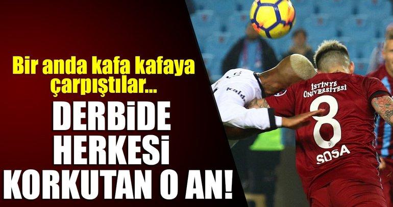 Trabzonspor-Beşiktaş derbisinden kareler