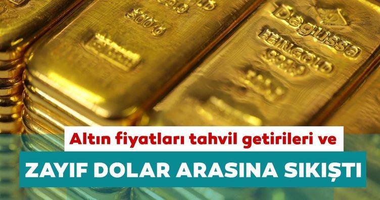 Altın fiyatları tahvil getirileri ve zayıf dolar arasında sıkıştı
