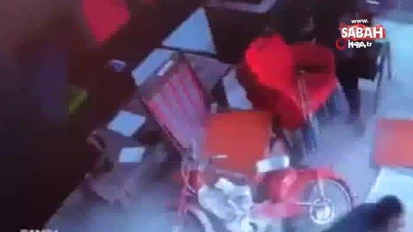 Tavan delindi, 3 metreden zemine böyle düştü   Video