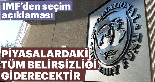 Son dakika: IMF'den ilk erken seçim açıklaması