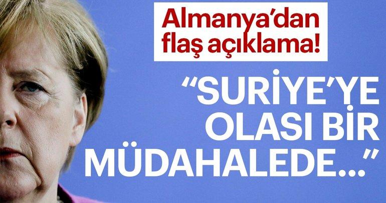 Son Dakika: Almanya Başbakanı Merkel: Olası bir Suriye müdahalesinde yer almayacağız