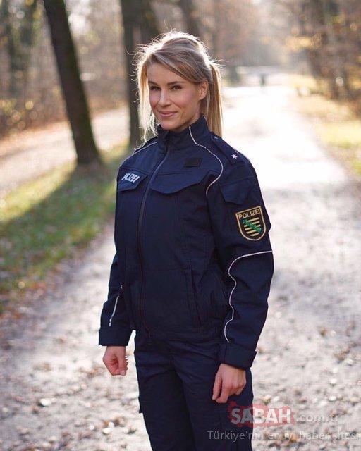 İşi gücü bıraktı! Almanya'nın en çekici polisi dünyayı geziyor!