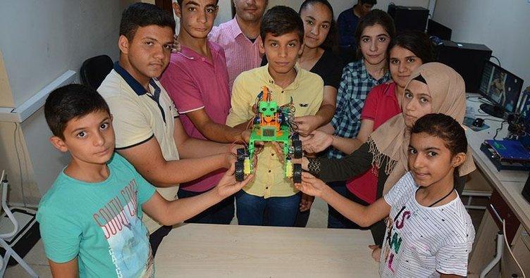 Şanlıurfa'da öğrenciler robot tasarladı