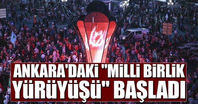 Ankara'daki Milli Birlik Yürüyüşü başladı