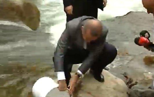 Başbakan Erdoğan Fırtına Deresi'nde