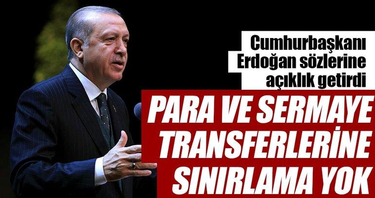 Para transferine kısıtlama yok
