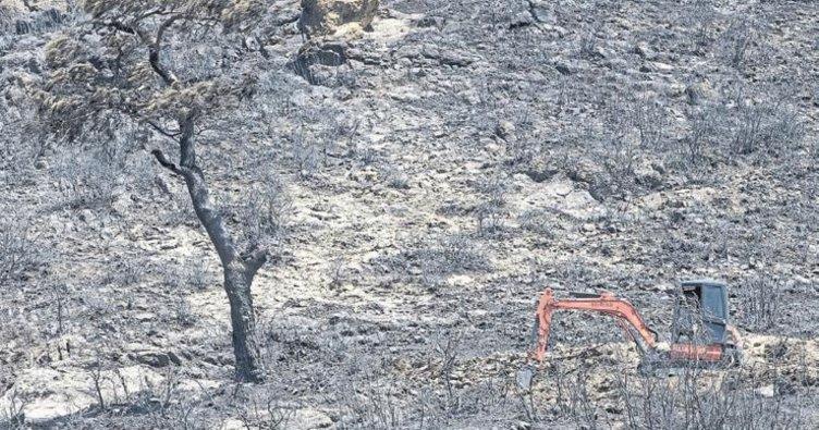 Yangının hasar tespit çalışmaları başladı
