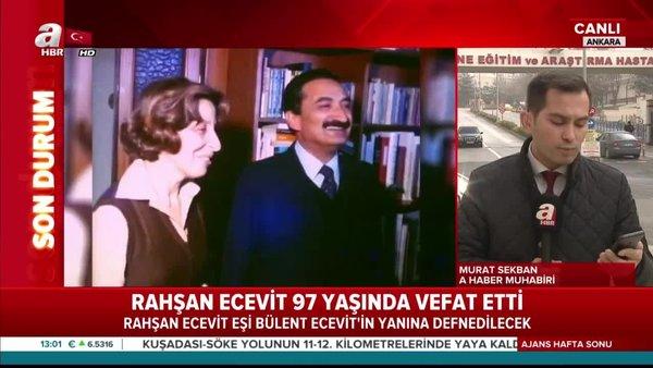 Başkan Erdoğan Rahşan Ecevit için taziyelerini iletti
