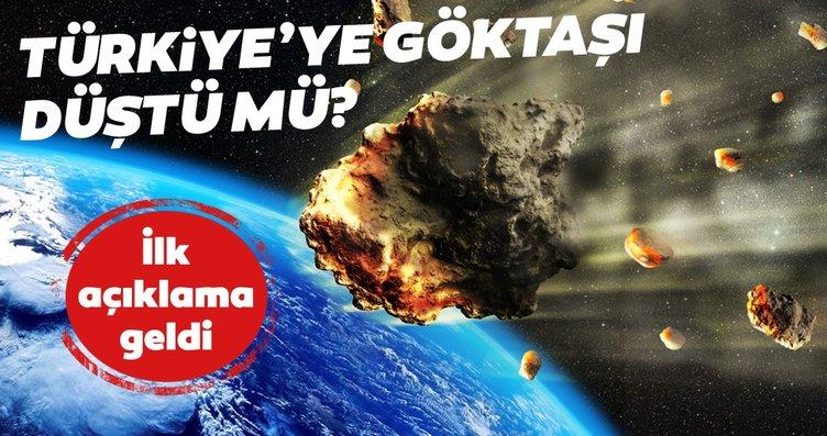 Türkiye'ye göktaşı düştü mü? İlk açıklama geldi