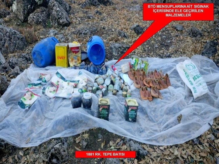 Cudi Dağı'nda çok sayıda silah ve mühimmat ele geçirildi