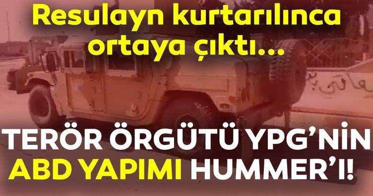 ABD'nin YPG'ye verdiği Hummer'lar  Resulayn operasyonu ile ortaya çıktı!