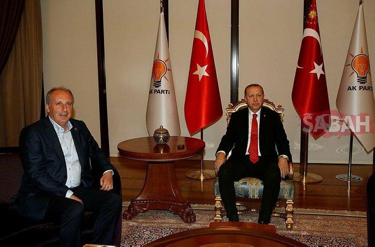 Erdoğan-İnce görüşmesinden ilk kareler