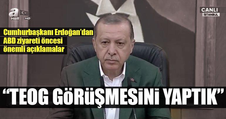 Cumhurbaşkanı Erdoğan: TEOG görüşmesini yaptık