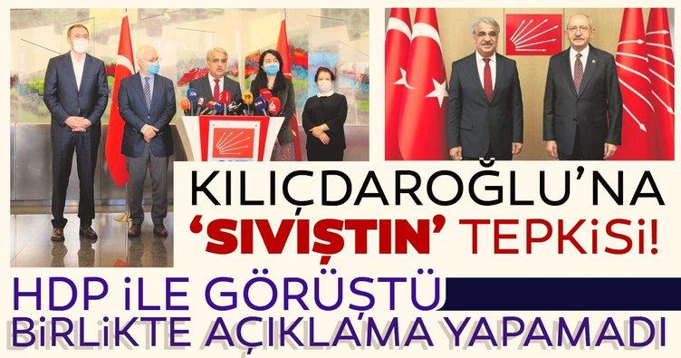 Kemal Kılıçdaroğlu'na 'Sıvıştın' tepkisi! HDP ile görüştü ama birlikte açıklama yapamadı