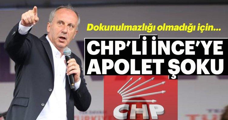 CHP'li Muharrem İnce'ye apolet şoku