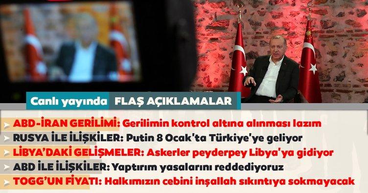 Cumhurbaşkanı Erdoğan'dan son dakika açıklamalar! İran ABD gerilimi...