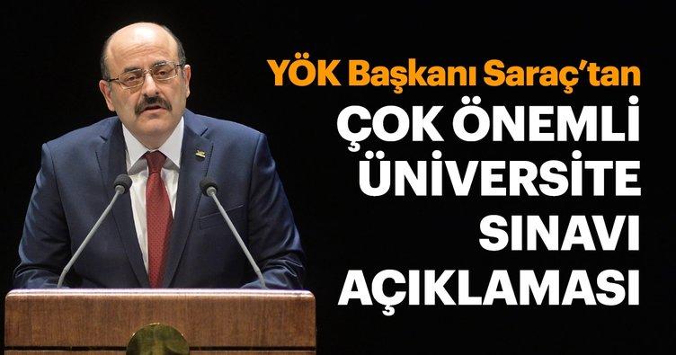 SON DAKİKA! YÖK Başkanı Yekta Saraç'tan üniversite sınavı ile ilgili önemli açıklama