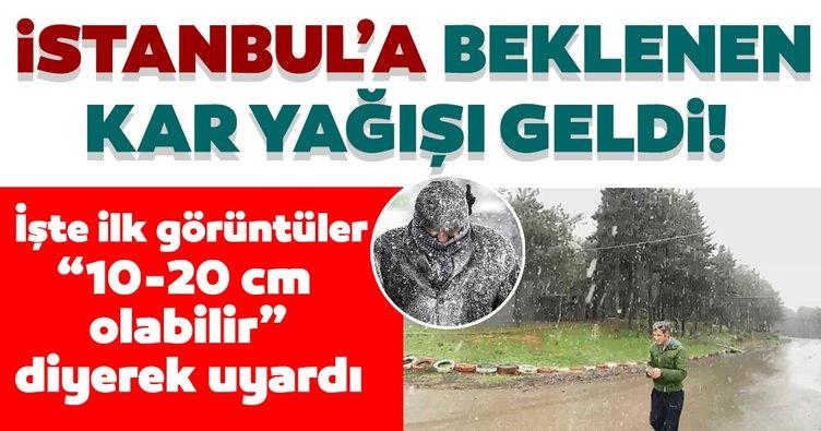 SON DAKİKA: İstanbul'a beklenen kar yağışı geldi! İşte İstanbul'daki kar yağışından ilk görüntüler...
