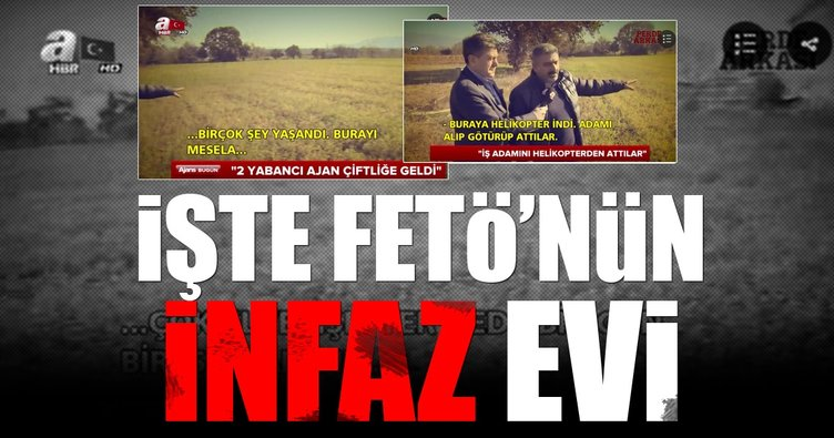FETÖ'nün toplantı ve infaz çiftliği görüntülendi