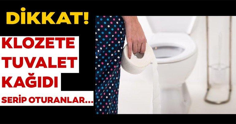 Klozete tuvalet kağıdı sermek zararlı mı?