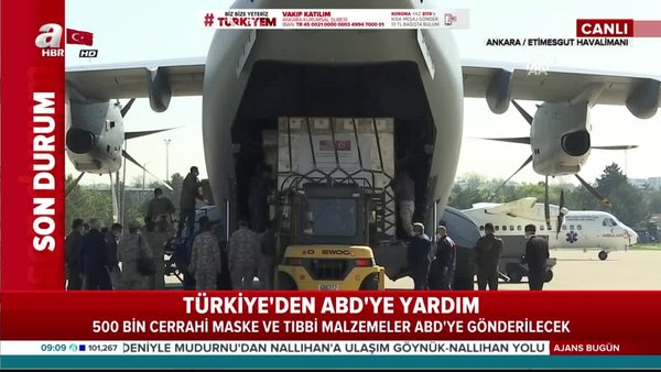 Son dakika: Türkiye'den ABD'ye yardım! Tıbbi malzeme götürecek uçak Ankara'dan havalanacak! | Video