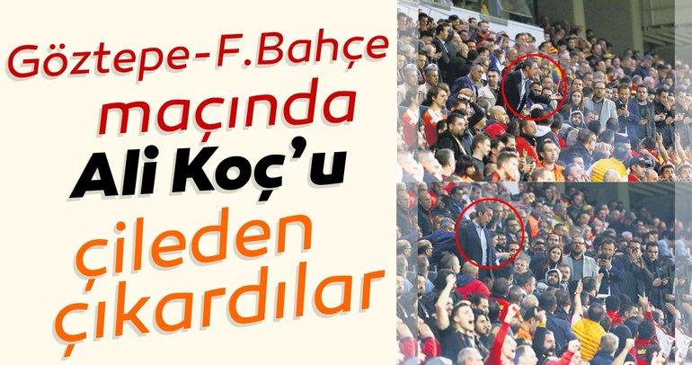 Göztepe - Fenerbahçe maçında Ali Koç, taraftarla tartıştı