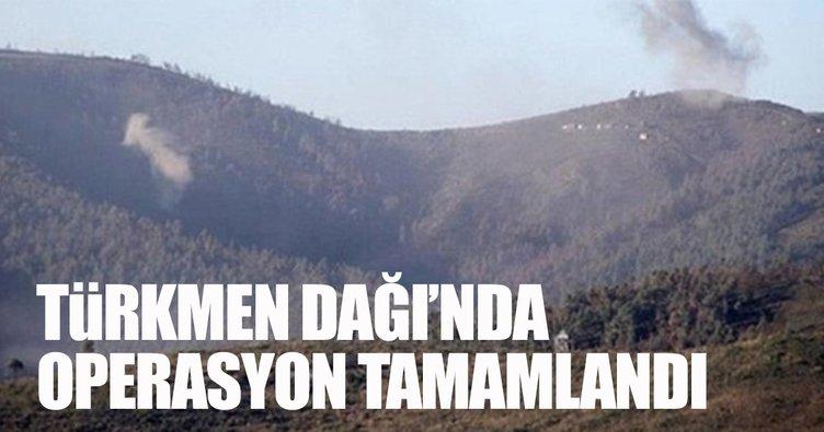 Türkmen Dağı operasyonu tamamlandı