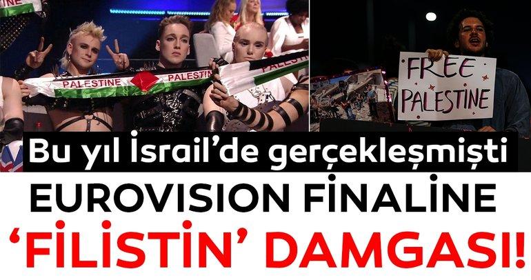 Eurovisiona Filistin damgası vuruldu! İsrail,Eurovision şarkı yarışması boyunca protesto edildi