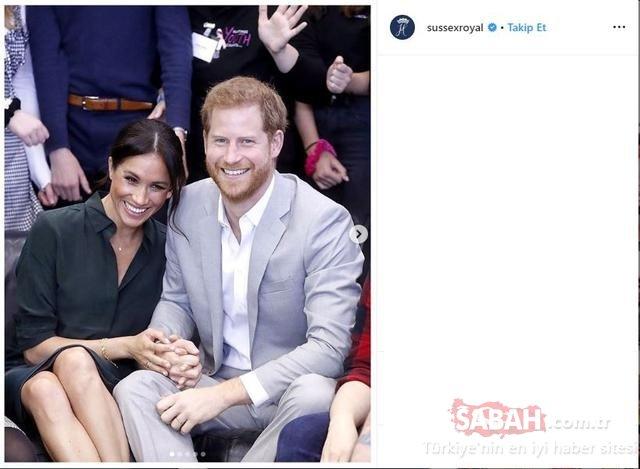 Meghan Markle'dan eşi Prens Harry'e jest! Prens Harry'nin hiç görülmemiş fotoğrafları ile...