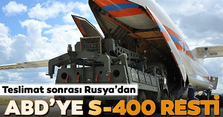 Teslimat sonrası Rusya'dan ABD'ye S-400 resti