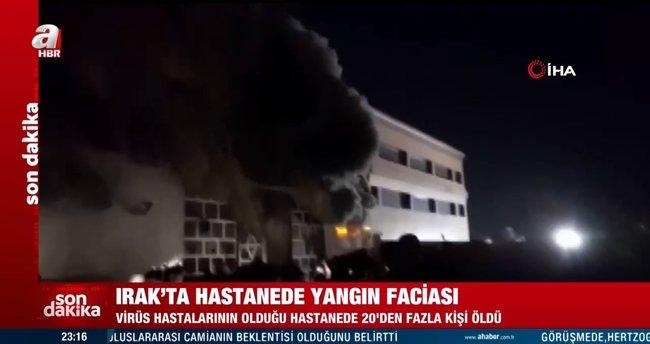 Son dakika: Irak'ta hastanede yangın faciası: 20'den fazla ölü var
